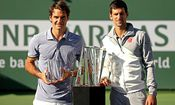 Roger Federer, Novak Djokovic - TENNIS - ATP, Indian Wells 2014 / Bild: (c) Getty Images (Matthew Stockman)